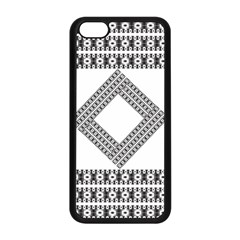 Pattern Background Texture Black Apple Iphone 5c Seamless Case (black)
