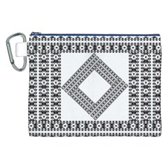 Pattern Background Texture Black Canvas Cosmetic Bag (XXL)