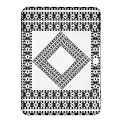 Pattern Background Texture Black Samsung Galaxy Tab 4 (10.1 ) Hardshell Case