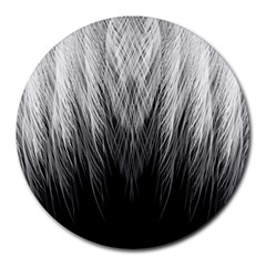 Feather Graphic Design Background Round Mousepads