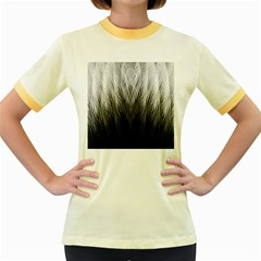 Feather Graphic Design Background Women s Fitted Ringer T Shirts