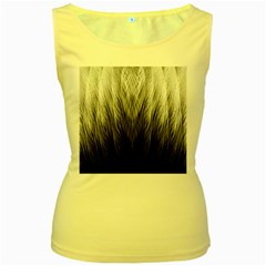 Feather Graphic Design Background Women s Yellow Tank Top