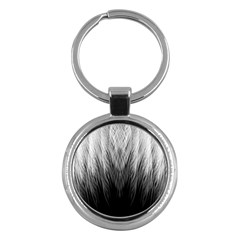 Feather Graphic Design Background Key Chains (round)