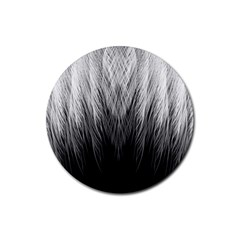 Feather Graphic Design Background Rubber Round Coaster (4 Pack)