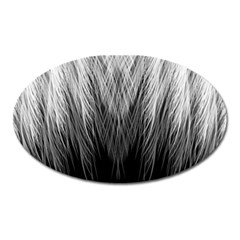 Feather Graphic Design Background Oval Magnet