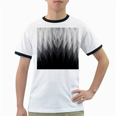 Feather Graphic Design Background Ringer T Shirts