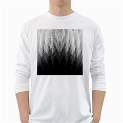 Feather Graphic Design Background White Long Sleeve T-Shirts
