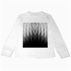 Feather Graphic Design Background Kids Long Sleeve T-Shirts