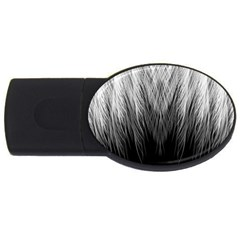 Feather Graphic Design Background USB Flash Drive Oval (4 GB)