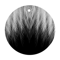 Feather Graphic Design Background Round Ornament (two Sides)