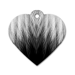 Feather Graphic Design Background Dog Tag Heart (One Side)