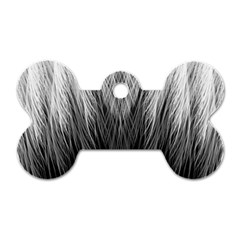 Feather Graphic Design Background Dog Tag Bone (Two Sides)