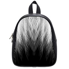 Feather Graphic Design Background School Bags (Small)