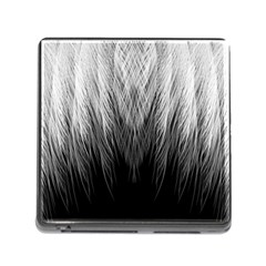 Feather Graphic Design Background Memory Card Reader (Square)