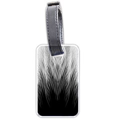 Feather Graphic Design Background Luggage Tags (one Side)