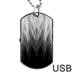 Feather Graphic Design Background Dog Tag USB Flash (Two Sides)