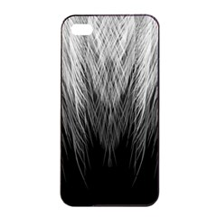 Feather Graphic Design Background Apple iPhone 4/4s Seamless Case (Black)