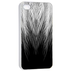 Feather Graphic Design Background Apple Iphone 4/4s Seamless Case (white)