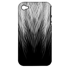 Feather Graphic Design Background Apple iPhone 4/4S Hardshell Case (PC+Silicone)