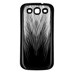 Feather Graphic Design Background Samsung Galaxy S3 Back Case (Black)