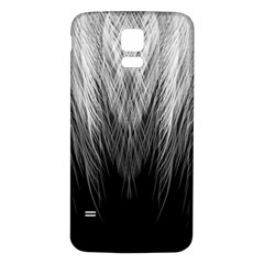 Feather Graphic Design Background Samsung Galaxy S5 Back Case (white)