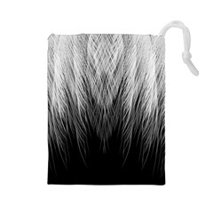 Feather Graphic Design Background Drawstring Pouches (large)