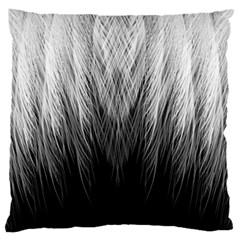 Feather Graphic Design Background Large Flano Cushion Case (Two Sides)