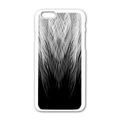 Feather Graphic Design Background Apple iPhone 6/6S White Enamel Case