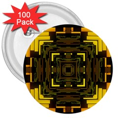 Abstract Glow Kaleidoscopic Light 3  Buttons (100 pack)