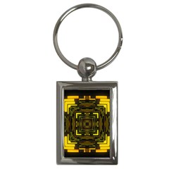 Abstract Glow Kaleidoscopic Light Key Chains (rectangle)