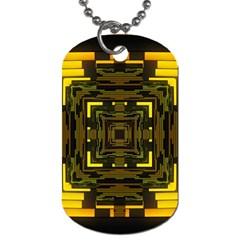 Abstract Glow Kaleidoscopic Light Dog Tag (one Side)