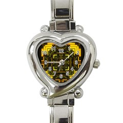 Abstract Glow Kaleidoscopic Light Heart Italian Charm Watch