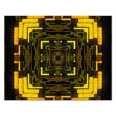 Abstract Glow Kaleidoscopic Light Rectangular Jigsaw Puzzl