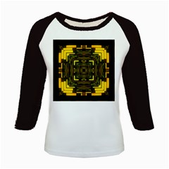 Abstract Glow Kaleidoscopic Light Kids Baseball Jerseys