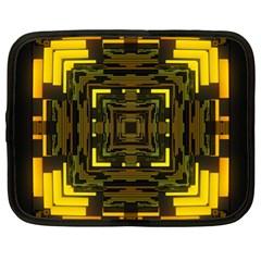 Abstract Glow Kaleidoscopic Light Netbook Case (xl)