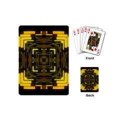 Abstract Glow Kaleidoscopic Light Playing Cards (mini)