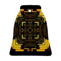 Abstract Glow Kaleidoscopic Light Bell Ornament (two Sides)