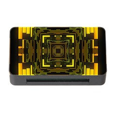 Abstract Glow Kaleidoscopic Light Memory Card Reader With Cf