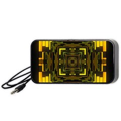Abstract Glow Kaleidoscopic Light Portable Speaker (black)