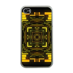 Abstract Glow Kaleidoscopic Light Apple iPhone 4 Case (Clear)