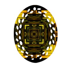 Abstract Glow Kaleidoscopic Light Ornament (oval Filigree)