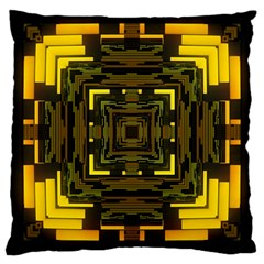 Abstract Glow Kaleidoscopic Light Large Cushion Case (Two Sides)