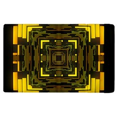 Abstract Glow Kaleidoscopic Light Apple iPad 3/4 Flip Case