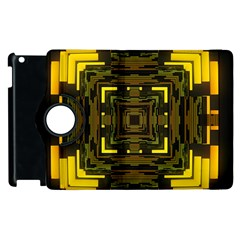 Abstract Glow Kaleidoscopic Light Apple Ipad 3/4 Flip 360 Case