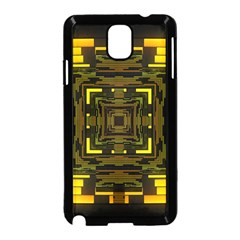 Abstract Glow Kaleidoscopic Light Samsung Galaxy Note 3 Neo Hardshell Case (black)