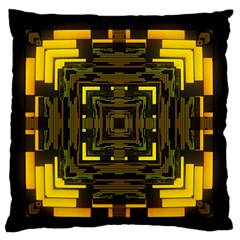 Abstract Glow Kaleidoscopic Light Standard Flano Cushion Case (One Side)