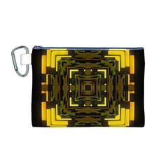 Abstract Glow Kaleidoscopic Light Canvas Cosmetic Bag (M)