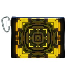 Abstract Glow Kaleidoscopic Light Canvas Cosmetic Bag (XL)