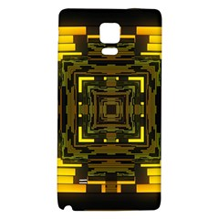 Abstract Glow Kaleidoscopic Light Galaxy Note 4 Back Case