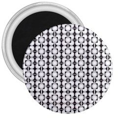Pattern Background Texture Black 3  Magnets